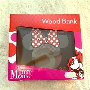 *NEW* Minnie Mouse Wooden Bank